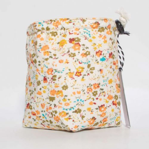 Orange and Green Flower Dice Bag
